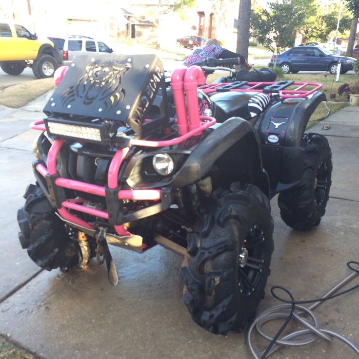 21 best grizzly images on pinterest 4 wheelers atvs and my pink black yamaha grizzly atv 4 wheeler with zebra seat cover sciox Image collections