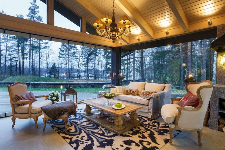 Фото интерьера зоны отдыха дома в современном стиле