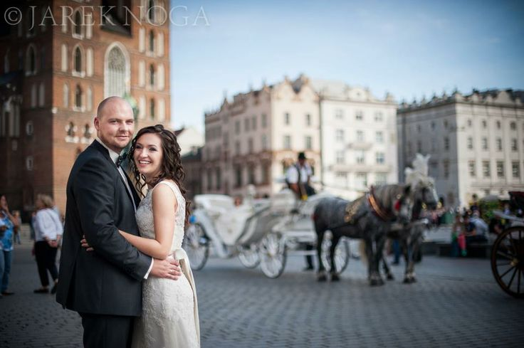 Our Bride Monika in Cracow market place (Poland)
