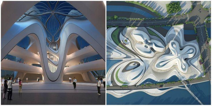 Космическая архитектура Захи Хадид Международный центр культуры и искусства Чанша, Китай