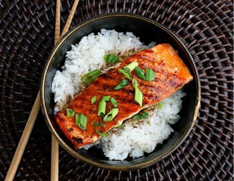 Grilled Salmon Teriyakii by savorysweetlife #Salmon_Teriyaki #savorysweetlife