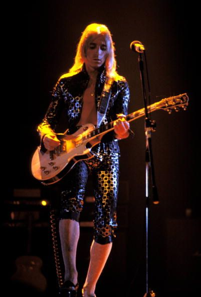 Photo of David BOWIE and Mick RONSON performing live onstage with David Bowie on first date of Ziggy Stardust US Tour at the Music Hall Cleveland