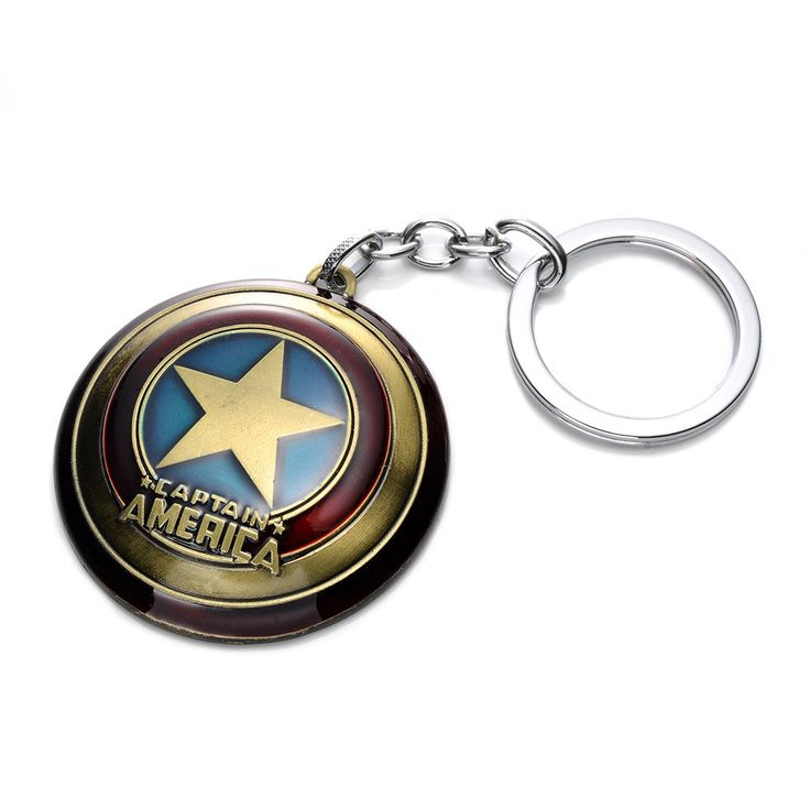 Wholesale Super Hero The Avengers Captain America Shield Metal Keychain Pendant Key Chain Chaveiro Gift For Men Boys Cheap KT170