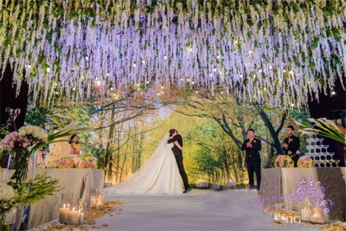 110 cm Silk Wisteria Wisteria flor Artificial guirlanda guirlandas perfeito para decoração de casamento decoração 48 em Flores & coroas decorativas de Casa & jardim no AliExpress.com | Alibaba Group