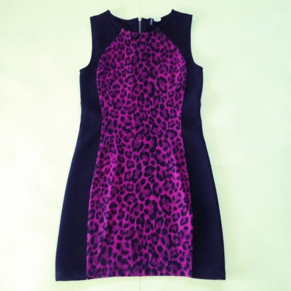 H&amp-M bodycon dress H&amp-M by divided pink leopard print mini dress. In ...