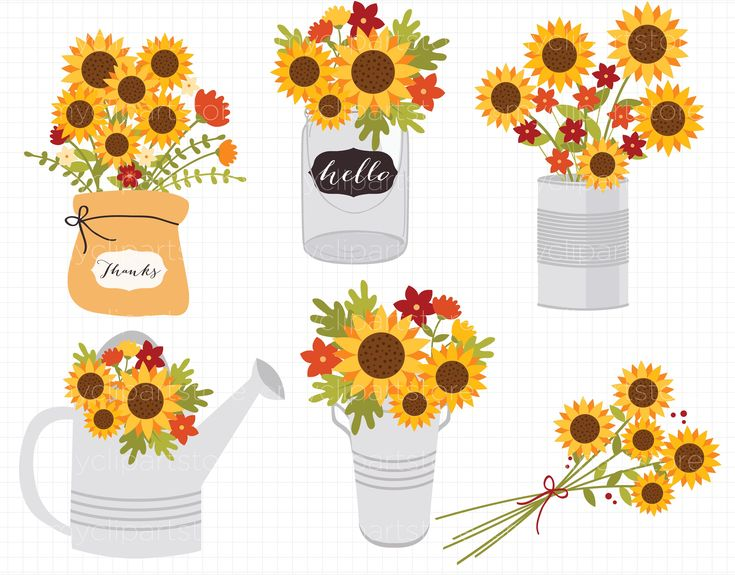 Autumn Sunflowers Clipart, SVG | Clip art, Sunflower ...