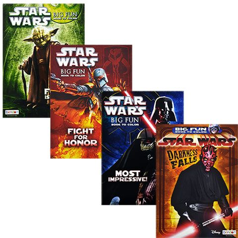 Star Wars Coloring Books, 96 pg.