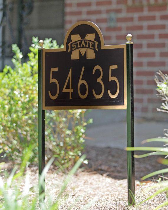Mississippi State University yard address sign on Etsy, $99.00