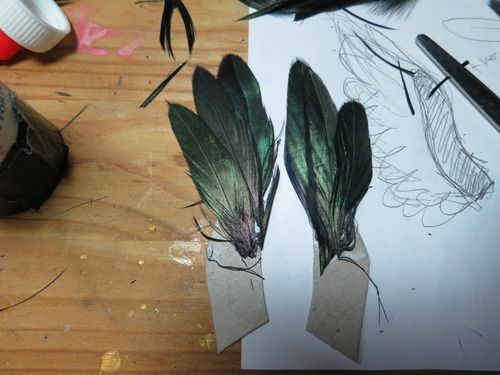 wing making tut with real feathers
