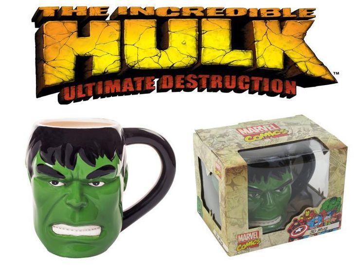 Hulk 3D Mug Marvel Avengers Angry Hulk Tea Coffee Mug Christmas Halloween Gift #3DHulkFaceMug  #Hulk #3D #Mug #MarvelAvengers #AngryHulk #Tea #Coffee #Mug #Christmas #Halloween #Gift
