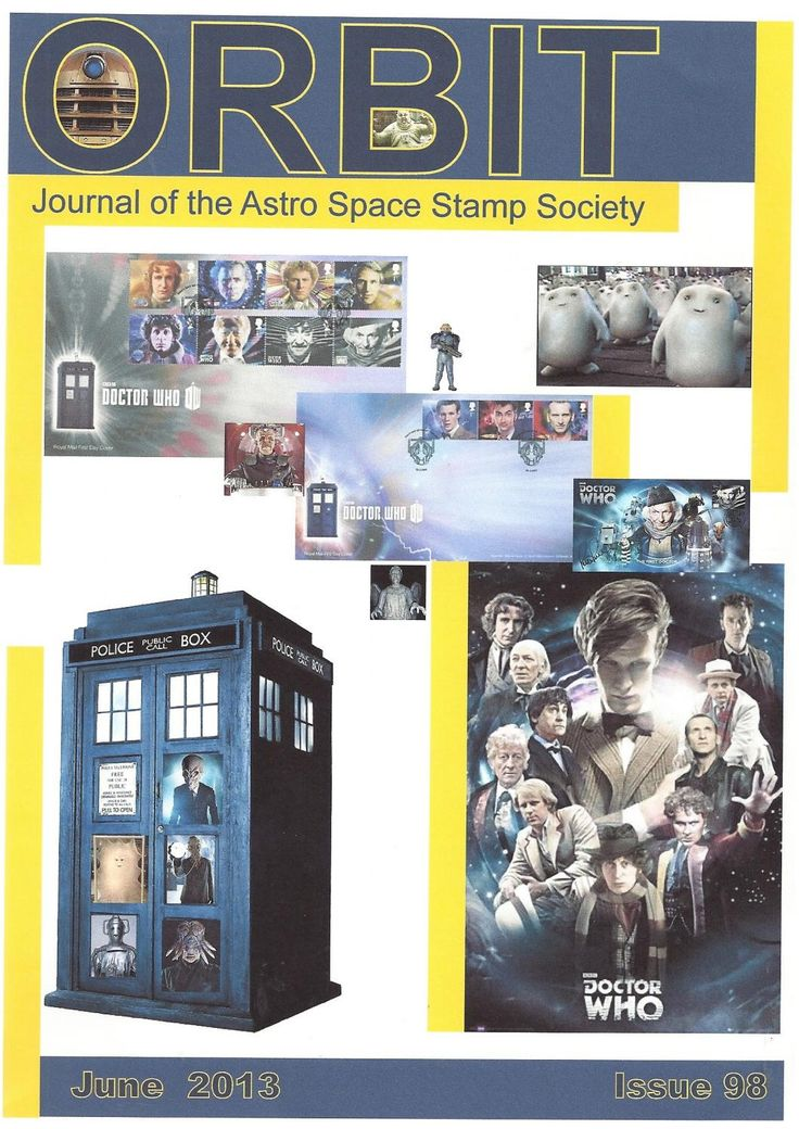 Orbit issue 98 (June 2013)  ORBIT is the official quarterly publication of The Astro Space Stamp Society, full of illustrations and informative space stamp and space cover articles, postal auctions, space news, and a new issues guide.