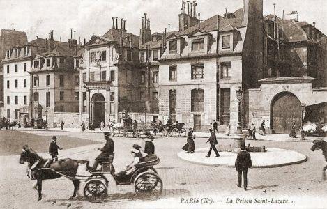 Le square Alban Satragne  La prison Saint-Lazare La prison Saint-Lazare, qui deviendra l'hôpital Saint-Lazare, était située dans les anciens bâtiments de la maison mère de la congrégation de la mission ou maison de Saint-Lazare Le couvent fondé par saint Vincent de Paul  a été transformé en prison en 1791, et accueillit spécifiquement les femmes en 1794.