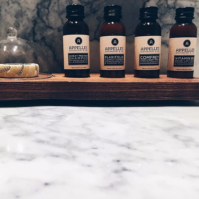 At @aboardthehougoumont enjoy our luxurious #appellesskin range of products in the bathrooms.Via @thelifestyleatelier
