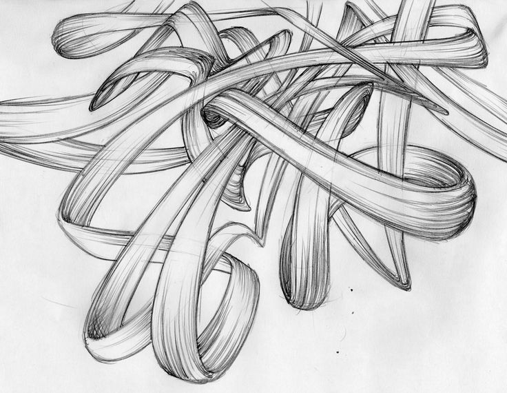 pencil - drawing - rubberbands - Giuseppe Santoro