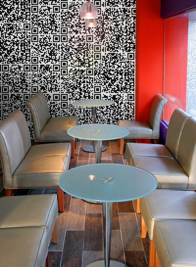 QR mosaic wall