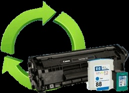 Toner cartridge and ink cartridge recycling