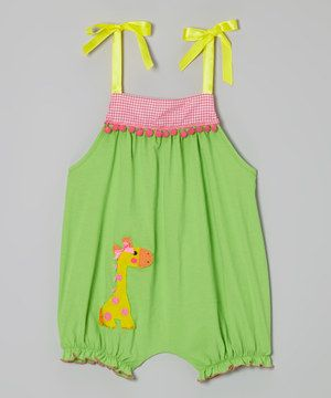 Victoria Kids Lime Giraffe Bubble Romper - Infant & Toddler by Victoria Kids #zulily #zulilyfinds