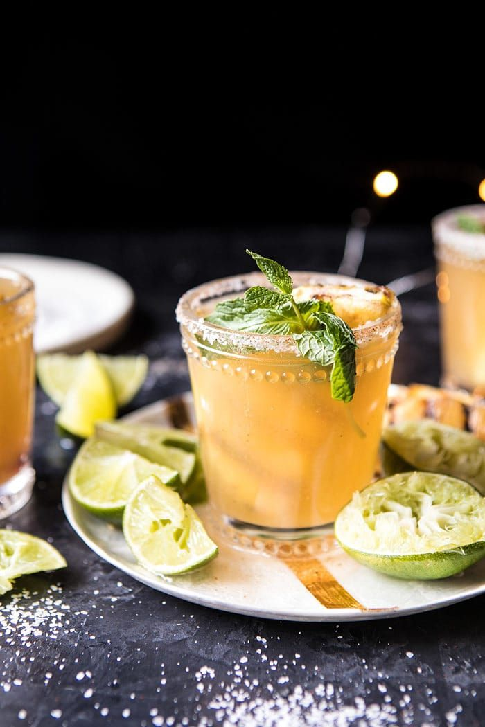 Pineapple Margarita Sparklers | halfbakedharvest.com @hbharvest #newyear #tequila #champagne #drink