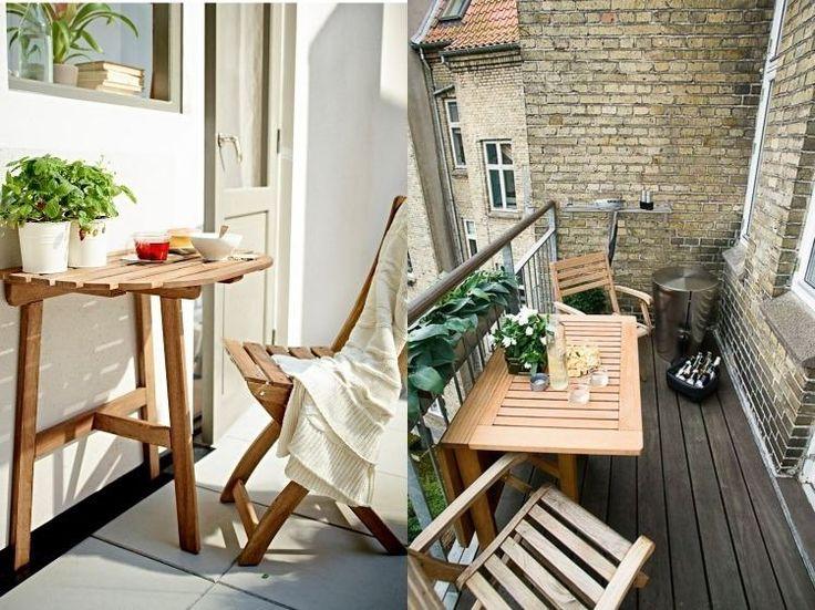 praktische, platzsparende, klappbare Outdoor Möbel aus Holz von Ikea