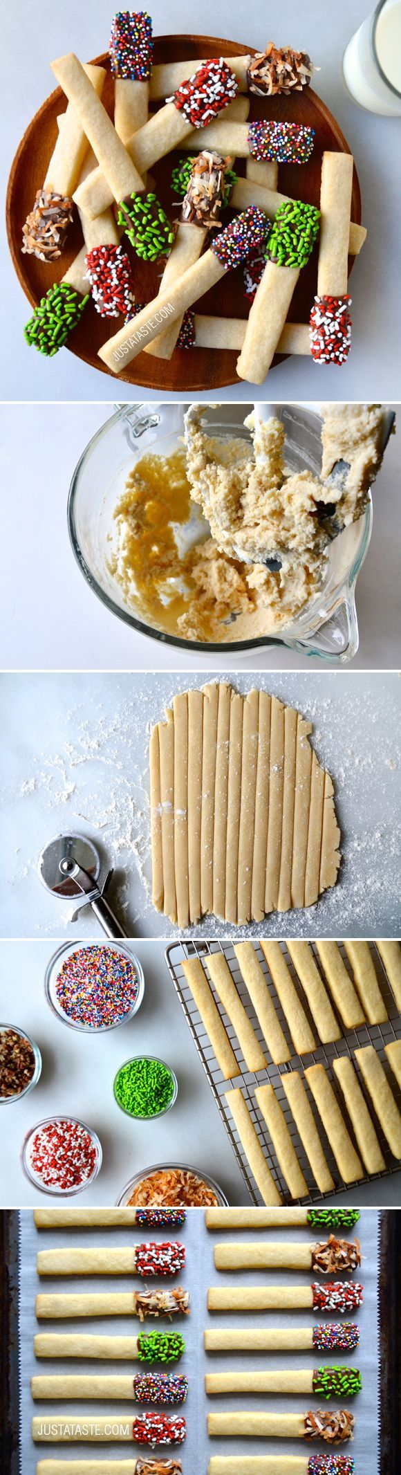 Sprinkle Sugar Cookie Sticks #recipe from justataste.com
