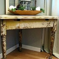 Chippy Corner Table From Salvaged Parts#/718013/chippy-corner-table-from-salvaged-parts?&_suid=1363443200531019857800115059576