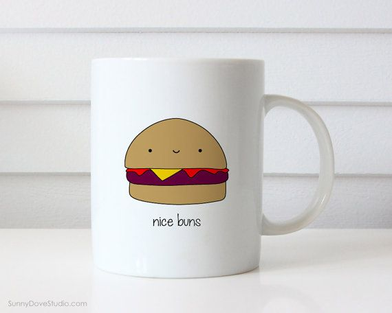 Funny Mug For Boyfriend Girlfriend Husband Wife Valentine Valentines Day Gift Hamburger Pun Nice Buns Anniversary Birthday Love Gifts Mugs  Nice Buns. This cute mug is a fun gift for your boyfriend, girlfriend, husband, wife, that special someone in your life! Perfect for Valentines Day, Christmas, your anniversary, their birthday or just because, this funny hamburger is sure to give them a smile everyday and make a sweet companion to their daily coffee routine! Design is printed on both…
