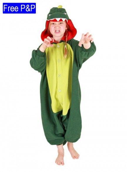 Kids Kigurumi Dinosaur Costume