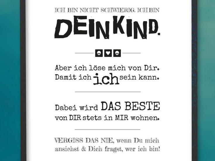 A4 Kunstdruck ♥ Dein Kind ♥ (Pubertät) von Brückli - herzliebehochzwei auf DaWanda.com