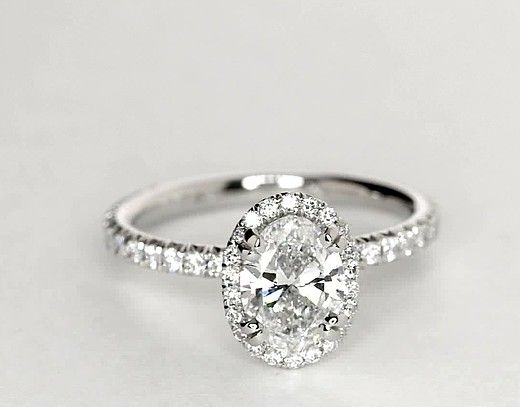1 Carat Diamond Blue Nile Studio Oval Cut Heiress Halo Diamond Engagement Ring | Recently Purchased | Blue Nile