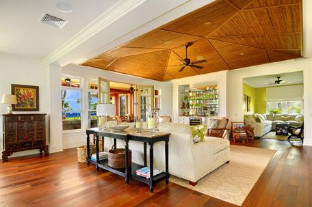I love the ceiling! Kukuiula Plantation House | Cottage 51- Fully Furnished - Luxury Home, Kauai, Hawaii - Kukuiula