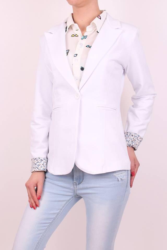 Biele dámske sako