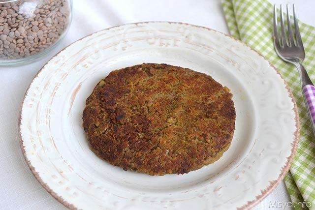 Hamburger di lenticchie, scopri la ricetta: http://www.misya.info/ricetta/hamburger-di-lenticchie.htm