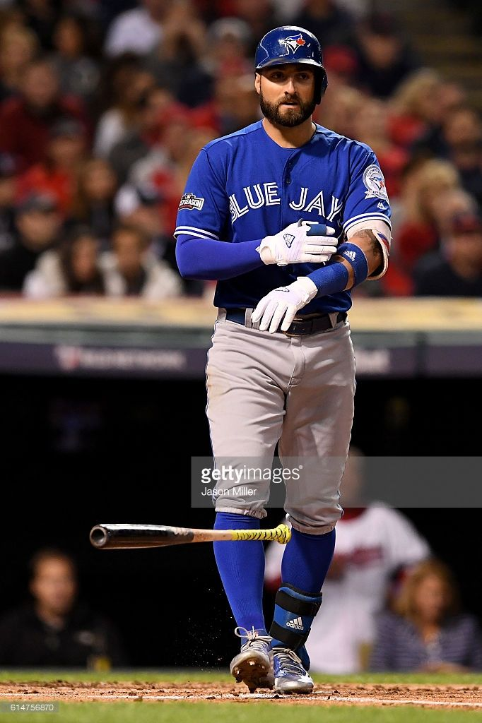 Kevin Pillar, TOR//Oct 14, 2016 Game 1 ALCS at CLE