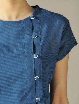 Blue Angrakha Top with Panels