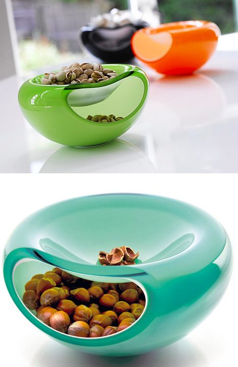 This shell-collecting nut bowl. | 29 Insanely Efficient Products You Wish Existed