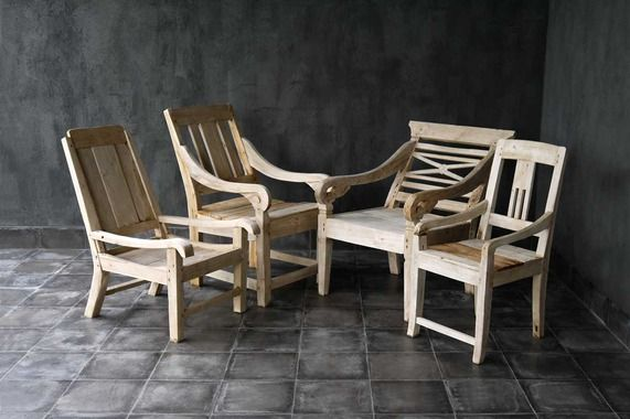 blaxsand - weathered teak java chairs