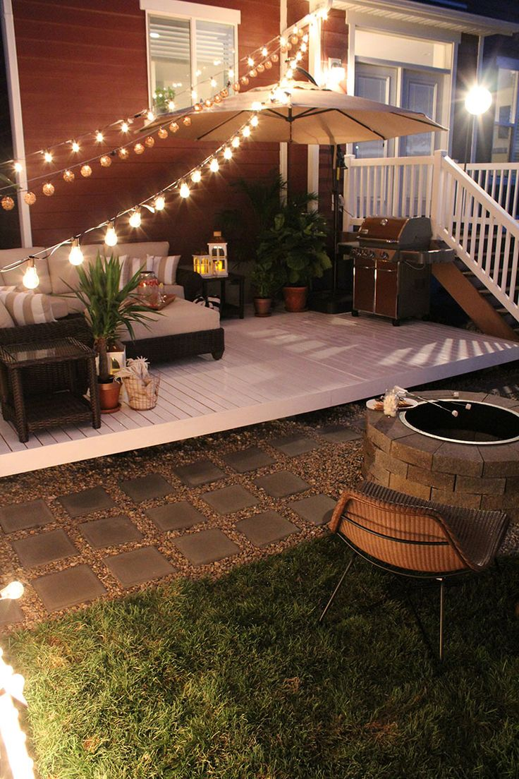 Deck Backyard Ideas backyard deck and patio designs home design ideas for regarding household How To Build A Simple Diy Deck On A Budget