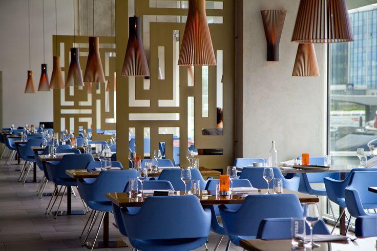Secto Design Seppo Koho 4201 in restaurant (http://www.replicalights.com.au/seppo-koho-secto-suspension-wood-pendant/)