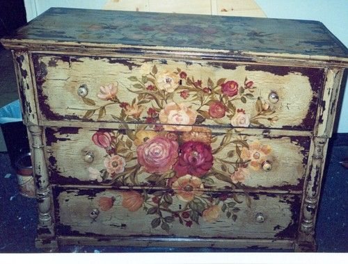 Distressed Custom Painted Chest of Drawers