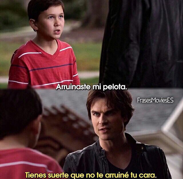 Damon siempre tan dulce *cof sarcasmo cof*  The Vampire Diaries ❤️