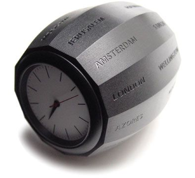 world time clock barrel