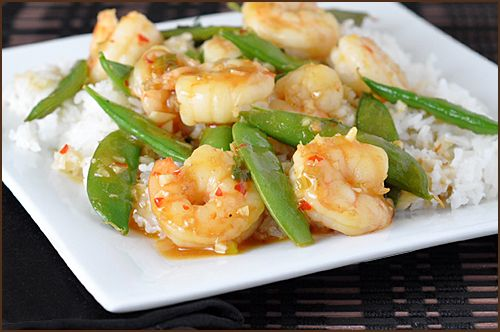 Shrimp Stir-Fry with Sugar Snap Peas