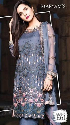 b9a8175506 Maryam's Chiffon Suit, Ladies Designer Replica, Online Clothes Shopping.
