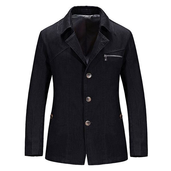 Mens Casual Single-breasted Pure Color Slim Fit Suit Jacket Blazers at Banggood