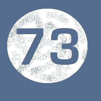 73 is the 21st prime number, its mirror 37 is the 12th, and its mirror 21 is the product of multiplying (hang on to your hats) 7 and 3.  In binary 73 is a palindrome 1001001, which backwards is 1001001, exactly the same.   HUH???