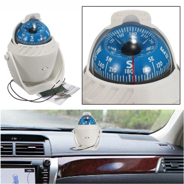 LED Light Sea Car Vehicle Boat Compass Electronic Digital Compass Navigation