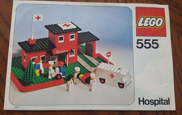 Lego set 555 Hospital Manual Only 1976 Vintage VTG Rare Collector Building Block #Lego