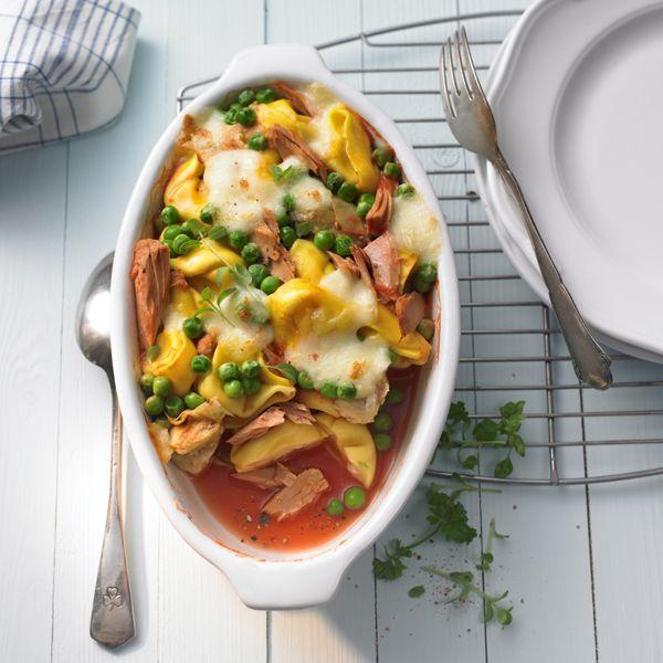 Ovenschotel met tonijn en tortellini #vis #WWrecept #WeightWatchers
