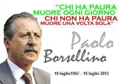 Ricordando Paolo Borsellino.