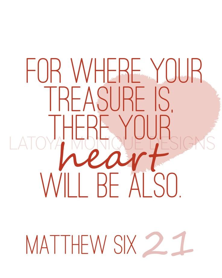 CLEARANCE Valentines Edition Matthew 6:21 Digital Print, Scripture Art, Scripture Print, Bible Verse,. $9.00, via Etsy.